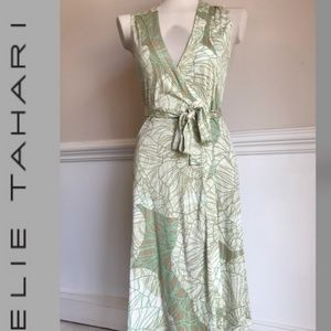 Elie tahari 100% silk wrap dress small 4 6